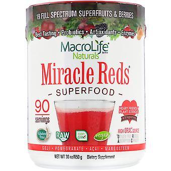 Macrolife Naturals, Miracle Reds, Superfood, Goji- Pomegranate- Acai- Mangosteen