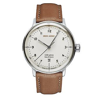 Iron Annie 5046-1 Bauhaus White Dial With Date Wristwatch