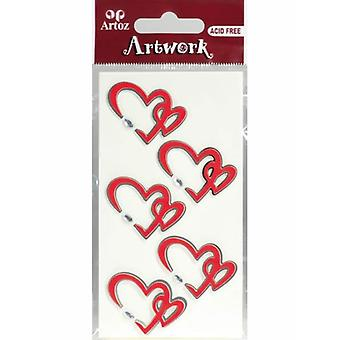 Two Hearts Craft Embellishment By Artoz