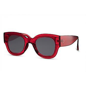 النظارات الشمسية المرأة فراشة كامل الحافة القط. 3 أحمر / أسود