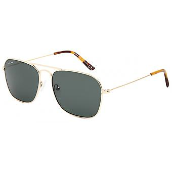 Sunglasses Unisex Aviator Polarized Gold (P88302)