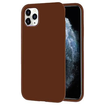 Shell ultra sottile per iPhone 11 Pro Solid Color Silicone Ultra-Slim Light Brown
