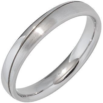 Partner Ring 925 Sterling Silber rhodiniert mattiert Silberring  Größe:70