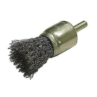 Faithfull Wire End Brush 25mm Flat End FAIWBS25E