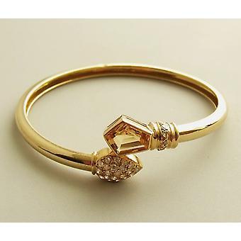 18 carat gold citrine and diamond bracelet