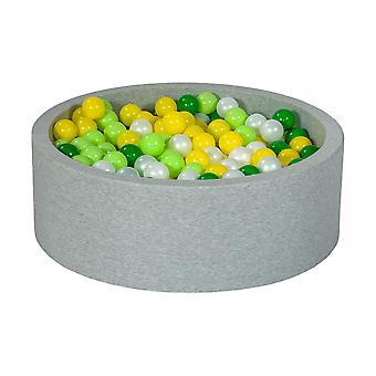 Ball pit 90 cm z 450 kulkami z pereł, żółty, zielony i jasnozielony