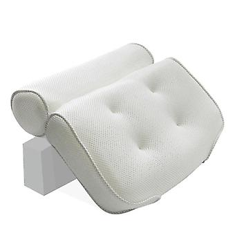 3d Mesh Hals, Back Spa Non-slip Bad Pillow Met Zuignappen