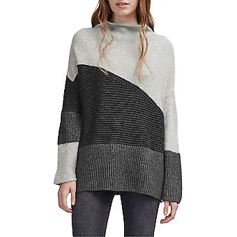 French Connection | Patchwork Mock Neck Sweater