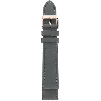 Gv2 By Gevril GV218.16.12.8 Rose-Gold IP Buckle Grey Suede Leather Strap