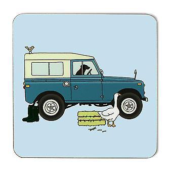 Emma Lawrence Blue Farm Vehicle Coaster