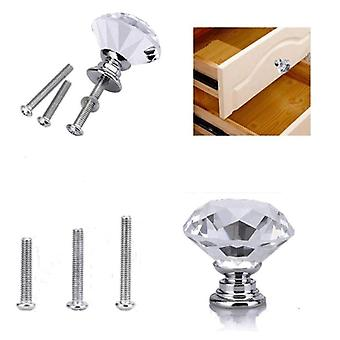 Clear Crystal Door Knob Glass Cabinet Handle Furniture For Kitchen Decor