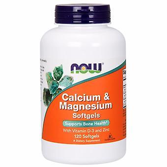 Now Foods Calcium & Magnesium, 120 Softgels