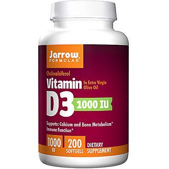 Jarrow Kaavat Vitamiini D3, 1000 IU, 200 Softgels