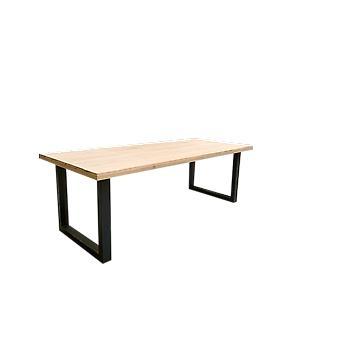 Wood4you - Eettafel Eikenhout stalen poot 180Lx78Hx96D cm