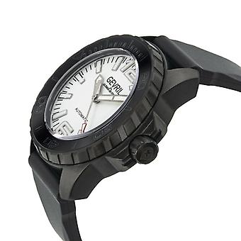 Gevril Men's Canal Street 46002 Automatic Diver Black Rubber Luminous Date Watch