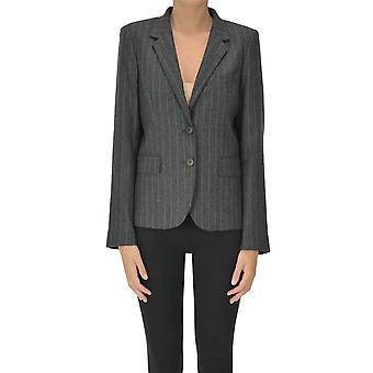 I.c.f. Ezgl456030 Women's Grey Wool Blazer