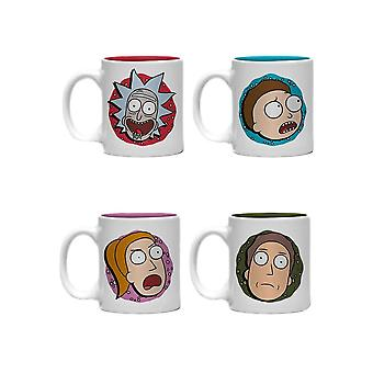 Rick i Morty Charakter Twarze Mini Kubek Zestaw