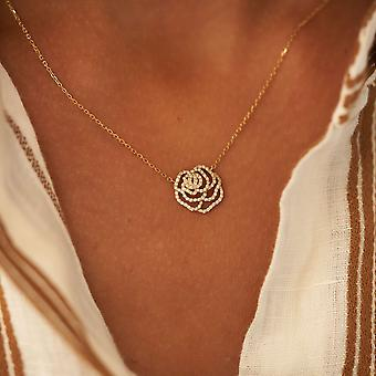 Necklace Rose Chouchou 18K Gold and Diamonds