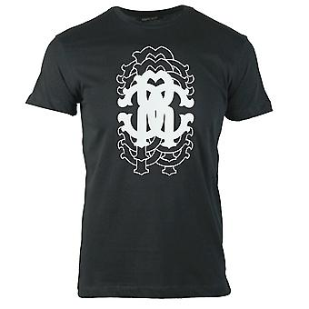 Roberto Cavalli Repetition Logo Sort T-shirt
