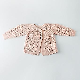 New Boys Girls Sweater Leaves Design Knit Cardigan Romper Clothing Set