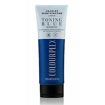 2 x Charles Worthington Toning Blue Shampoo 250ml