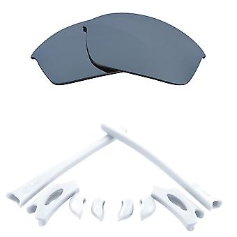 Náhradní čočky Kit pro Oakley Flak Bunda Silver Mirror Bílé Anti-Scratch Anti-Oslnění UV400 od SeekOptics