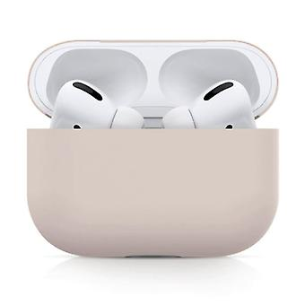 SIFREE Flexible Case for AirPods Pro - Silicone Skin AirPod Case Cover Flexible - Beige