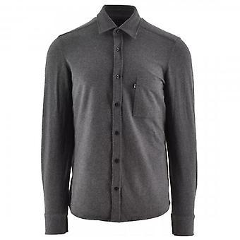 Boss Orange Hugo Boss Relegant_2 langærmet Jersey Stretch Shirt Grey 50439016