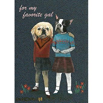 For My Favorite Gal-lady Dogs Card