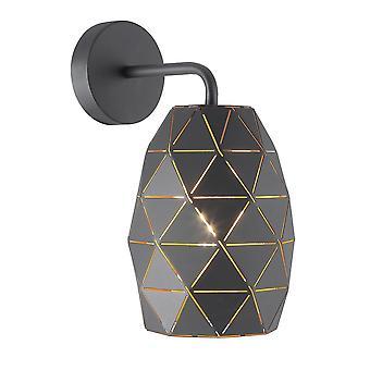 Moderne dome wandlamp grafiet, goud, champagne 1 licht, E27