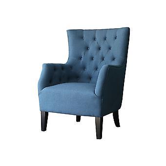 """Skandynawski fotel """"Duchesse"""" w tkaninie - Ciemnoniebieski"""