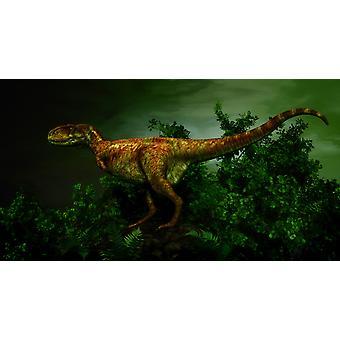 Pycnonemosaurus war ein fleischfressender theropoder Dinosaurier, der Besitz der Familie Abelisauridae It lebten etwa 70 Millionen Jahren während der späten Kreidezeit im heutigen Brasilien Poster Print