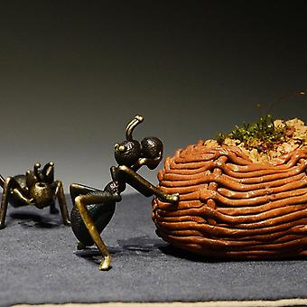 Colored Brass Ant Statue