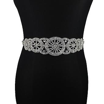 Handmade Bridal Belt Rhinestone Waistband Applique Evening Prom Dresses