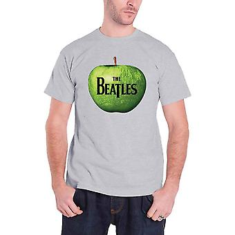 The Beatles T Shirt classic Drop T band Logo In Apple Official Mens Grey