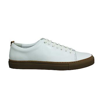Hackett London Charlton 7 White Leather Lace Up Mens Cupsole Shoes HMS20817 803