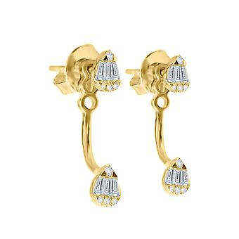 Earring Duo Finesse 18K Gold and Diamonds