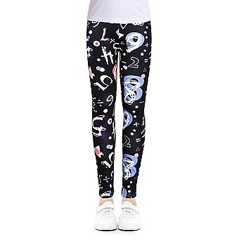 Girls Leggings For Outdoor Travel, Casual Wear, Stylish Computer Printing