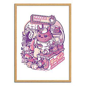 Art-Poster - My neighbor Noodle Bar - Ilustrata