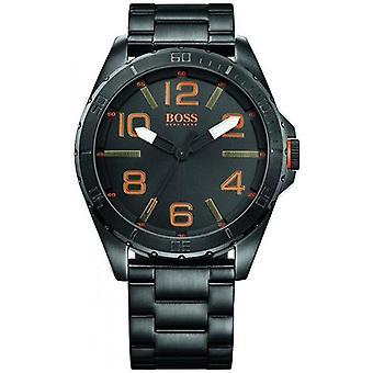 Hugo Boss 1513001 Oranssi Berliini Musta Teräs Miesten Watch