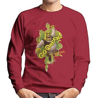 Shrek Go Green Iedereen Is Men's Sweatshirt