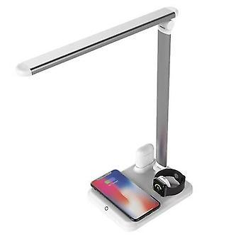 4 En 1 lampe de bureau led Light Qi Wireless Charger