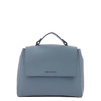 Orciani B01999softortensia Women's Light Blue Leather Handbag