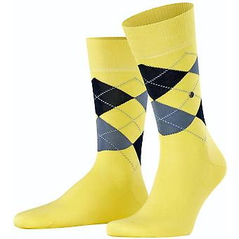Burlington Manchester Socks - Vanilla Yellow