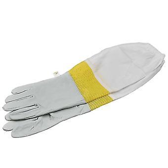 Beekeeping Gloves Protective Sleeves Sheepskin And Cloth Bee For Beekeeping