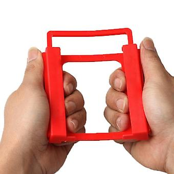 1pc Red 2.5 To 3.5 Inch Solid Hard Disk Stand Ssd Support Holder Metal Mounting
