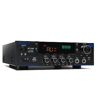 TELI BT-1388 HiFi bluetooth výkonový zesilovač Stereo Audio Karaoke FM Přijímač USB SD