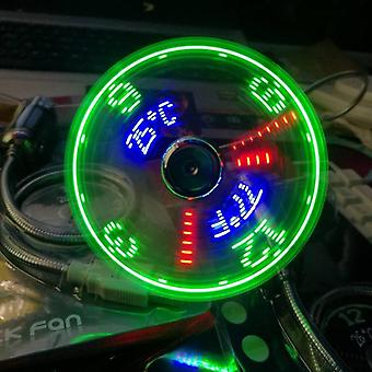 Usb Fans Mini Time And Temperature Display Creative /with Led Light New Cool