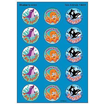 Autocollants puants d'animaux marins/bleuets, 60 ct.
