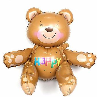Large 3d Bear Animal Foil Balloons Party Hat